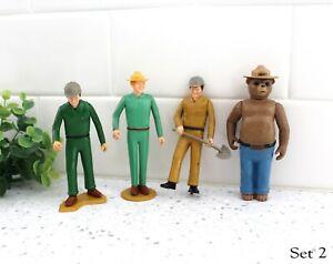 1970s Tonka Smokey The Bear & Park Rangers Action Figures Plastic Set 2 / z149