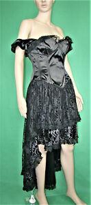 Kleid, Spitze, Gotik, Goth, Gothic, Romatik, Barock, Hochzeit, schwarz, Gr. S