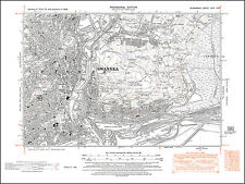 Swansea east, old map Glamorgan 1948: 24NW repro Wales