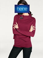 RICK CARDONA by Heine 2-in-1-Pullover Two-in-One Look, bordeaux. Gr. 40. NEU!!!