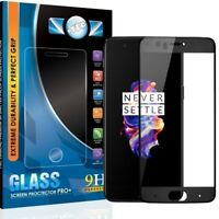 2 PACK ITEC ONEPLUS 5 FULL COVER GORILLA TEMPERED GLASS SCREEN PROTECTOR (BLACK)