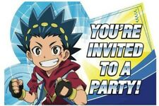 BEYBLADE Postcard Invitations Boys Birthday Party Supplies Favors 8ct Bey Blade