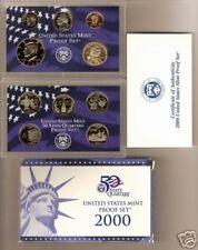 2000 S US Mint Proof 10 Coin State Quarters Set Complete Original MA MD SC NH VA