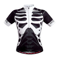 Summer Men's Cycling Skeleton Jersey Bike/Bicycle Outdoor Shirts Tops Quick Dry