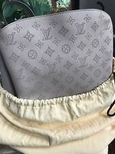 New Louis Vuitton Mahina Babylone PM Handbag, Galet, M50032