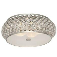 Home Decorators 15 in. 5-Light Brushed Stainless Steel Round Flush Mount New