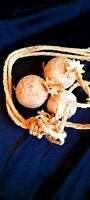 Vintage Hand Carved Argentina Bolas Boleadoras Gaucho Cowboy primitive hunting