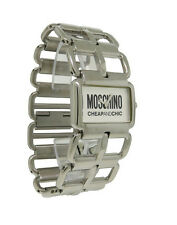 Moschino MW0034 Women's Rectangular Silver Tone Analog Open Link Watch