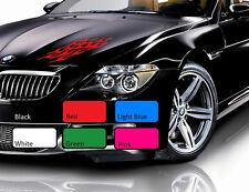 2 X Flame Car Sticker Fire Racing Sport Drift Tuning Vinyl JDM WV Decal Art 106