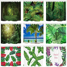 """Tropical Plant Leaves Bath Shower Curtain Waterproof Fabric Various Pattern 71"""""""