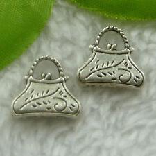 Free Ship 90 pcs  tibet silver handbag charms 15x14mm #2005