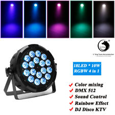 180W RGBW 18 LED Par Light Rainbow Beam Effect Stage Lighting 6/7CH DMX Sound DJ