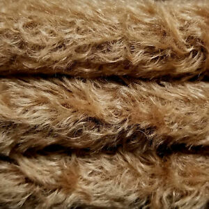 """1/4 yd 325S/C Tuscan Chestnut INTERCAL 5/8"""" Semi-Sparse Curly German Mohair"""