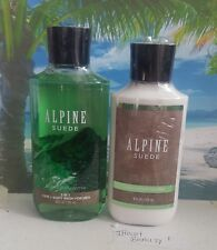 bath and body works alpine suede body lotion and 2 in 1 hair body wash for men