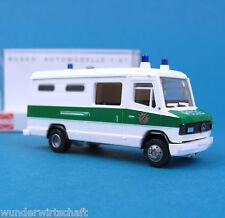 Busch H0 44351 MERCEDES 507 Polizei Gefangenen-Transport Bayern MB HO 1:87 box