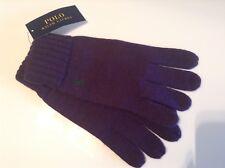 BNWT 100% Auth Ralph Lauren, Mens 100% merino wool Purple gloves & Green Pony.