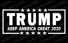 Trump 2020 Keep America Great Sticker vinyl window make decal Donald USA MAGA