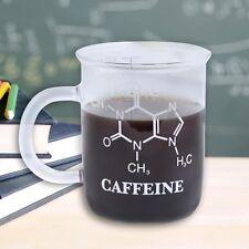 CHEMISTRY MUG Laboratory Beaker SCIENCE Caffeine Molecule GLASS Thumbs Up