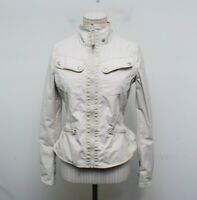 Lululemon Out and About 4 Jacket Peplum Womens Cream Pockets Missing Hood