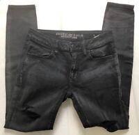 American Eagle Jegging Distressed Skinny Jeans Super Stretch Size 6