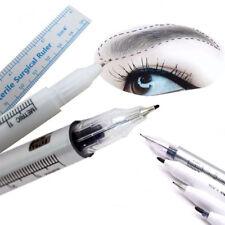 Microblading Tattoo Eyebrow Skin Marker Pen + Measure Measuring Ruler Kit Set