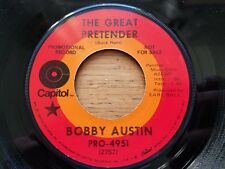 BOBBY AUSTIN The Great Pretender / Tommy Jekyll And Linda Hyde '70 PROMO Country