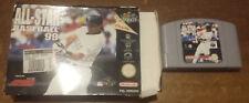 Video Gioco Retro Game Nintendo 64 N64 PAL Boxed all star baseball 99