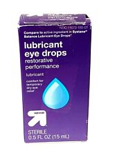 Up & Up Lubricant Eye Drops Restorative Performance 0.5 FL OZ New