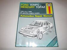 1989 FORD TEMPO & MERCURY TOPAZ OWNER'S REPAIR MANAUL 1984 - 1989