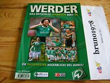 Werder - Das Offizielle Jahrbuch 2007/08, SV Werder Bremen,HSV,Bvb,Schalke,fcb