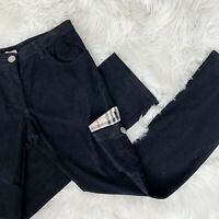Burberry London Women's Sz US 6 Nova Check Flap Pockets Corduroy Cargo Pants