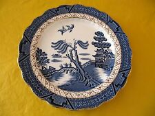 """BOOTHS REAL OLD WILLOW SIDE/SALAD PLATES dia 7.5"""" gold rim, USED  (0.3/107)"""