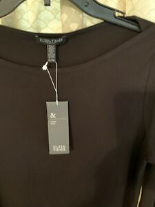 WOMEN'S DRESS BY EILEEN FISHER SIZE PL/PG COLOR COFFEE BROWN NWT