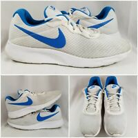 Nike Mens Tanjun 812654-100 Blue Running Shoes Low Top Lace Up Sneakers Size 13