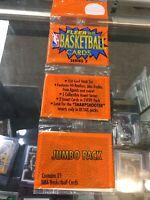 94 - 95 Fleer NBA Basketball Cards Series 2 Jumbo Rack Pack New Sealed