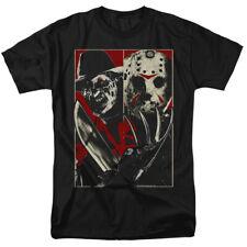 Freddy Vs Jason Portraits Horror Movie Officially Licensed T-Shirt