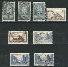 France Stamps 8 Different Famous Sites Used VF 1929-31 SCV $60.80