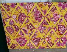 Vera Bradley Bulletin Board picture holder mustard gold ribbon plum,fuchsia EUC