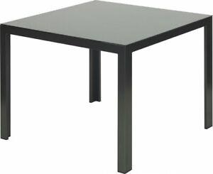 Primaster Gartentisch Savona 90 x 90 cm Alu Tisch Beistelltisch Alutisch