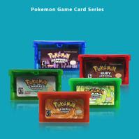 Games Pokemon Video Nintendo Game Boy Advance Card GBA Cartridge English Version