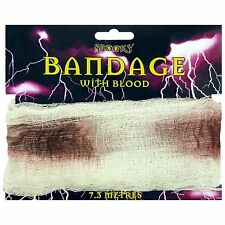 Halloween Bandage With Blood - 7.3m long - Party Decoration - Fancy Dress