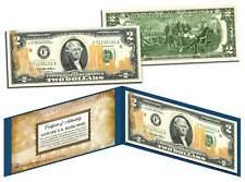 WORLD TRADE CENTER 9/11 U.S. $2 Bill * Statue of Liberty * Laser Line GOLD LEAF