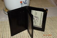 VINTAGE MEN'S BLACK BALLY CREDIT CARD HOLDER WITH COIN POUCH W/ZIPPER 55935