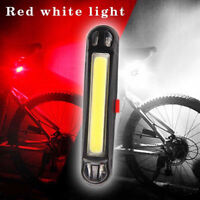 COB LED Bicycle Bike Cycling Front Rear Tail Light USB Rechargeable 3 Modes