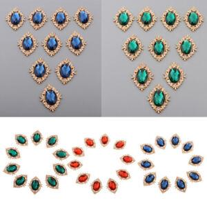 10x Crystal Rhinestone Button Flatback for Wedding Embellishment Sewing