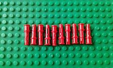 10 x NEW LEGO TECHNIC PIN 3L WITH FRICTION RIDGES & STOP BUSH RED No : 4140806