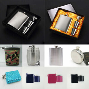 Multi Size Hip Flask Liquor Whiskey Alcohol Stainless Steel Wedding Birthday Kit