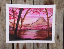 Oeuvre originale signée - peinture unique -  zen art tableau canvas dessin japon