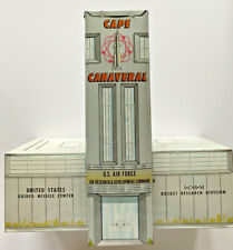 VNTG 1952 MARX TOYS CAPE CANAVERAL TOWER PRE-NASA TIN LITHOGRAPH METAL BUILDING