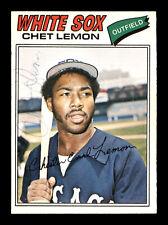 Chet Lemon Autographed Auto 1977 O-Pee-Chee Card #195 Chicago White Sox 169520